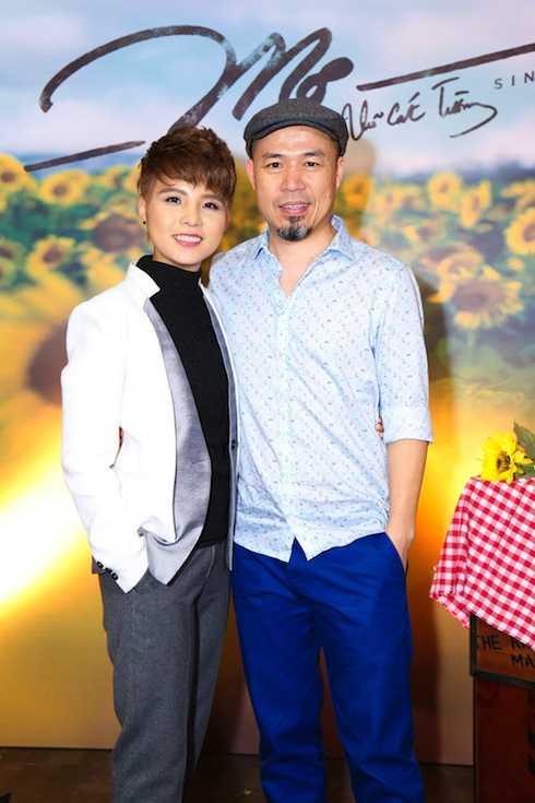Vũ Cát Tường và nhạc sỹ Huy Tuấn.