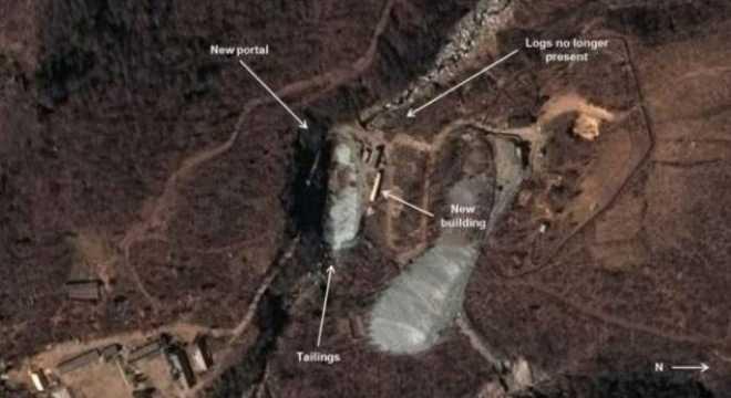 Ảnh vệ tinh một bãi thử hạt nhân của Triều Tiên