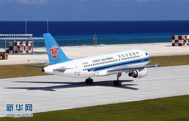 Truyền thông Trung Quốc đăng ảnh một máy bay hạ cánh trái phép xuống đảo nhân tạo phi pháp trên Biển Đông