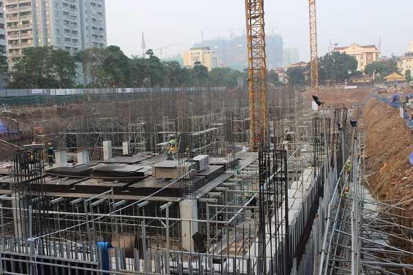 Công trường dự án Mon City thay đổi từng ngày