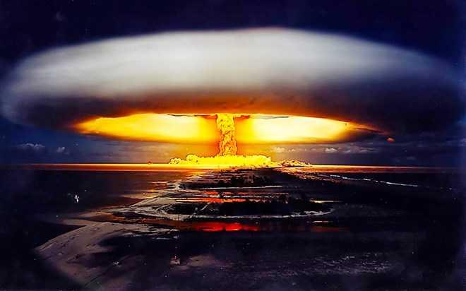 Ảnh minh họa sức tàn phá khủng khiếp của bom nhiệt hạch
