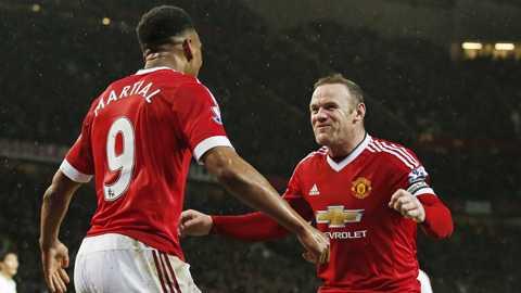 Rooney-Martial lại lập công?