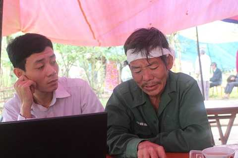 Ông Thịnh chia sẻ câu chuyện về người con xấu số với phóng viên VTC News