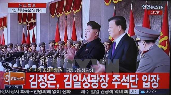 Ủy viên thường vụ Bộ Chính trị Đảng Cộng sản Trung Quốc Lưu Vân Sơn đã thường xuyên trò chuyện với ông Kim Jong-un trong suốt lễ duyệt binh kỷ niệm 70 năm ngày thành lập Đảng Lao động Triều Tiên
