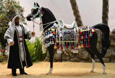 Huấn luyện ngựa đua rất khó khăn. (Ảnh: Model Horse Gallery)