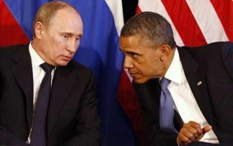 Tổng thống Nga Putin (trái) và người đồng cấp Mỹ Obama
