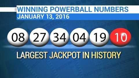 Dãy số độc đắc Powerball - Ảnh: CBSN
