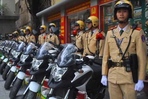 100% CSGT tham gia bảo đảm an toàn giao thông trong thời gian diễn ra Đại hội Đảng lần thứ 12