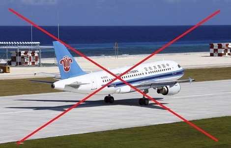 Máy bay dân dụng của Trung Quốc đáp xuống đường băng xây trái phép trên đảo Chữ Thập thuộc quần đảo Trường Sa của Việt Nam