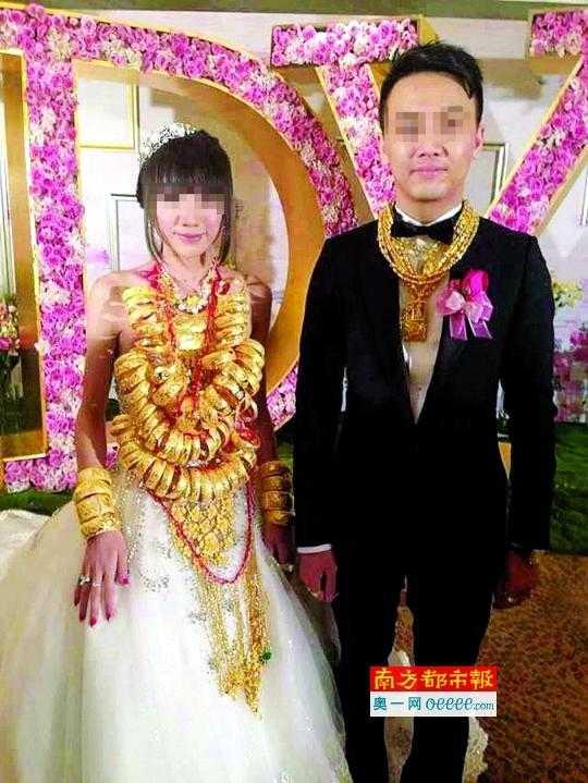 Chú rể trong đám cưới cũng ngập trong vàng năm ngoái chính là anh em với chú rể năm nay