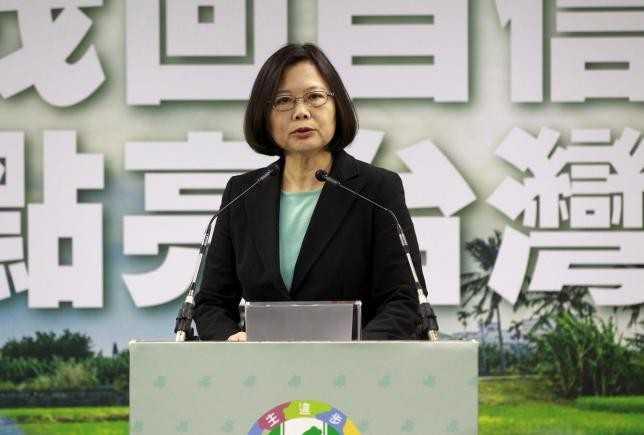 Nguời đứng đầu đảo Đài Loan Thái Anh Văn. Ảnh: Reuters