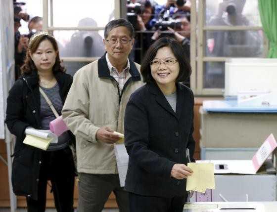 Thái Anh Văn theo đuổi chức lãnh đạo Đài Loan nhiệm kỳ từ năm 2016 sau thất bại năm 2012. Ảnh: Reuters