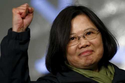 Lãnh đạo Đài Loan Thái Anh Văn trước người ủng hộ sau khi giành chiến thắng trong cuộc bầu cử