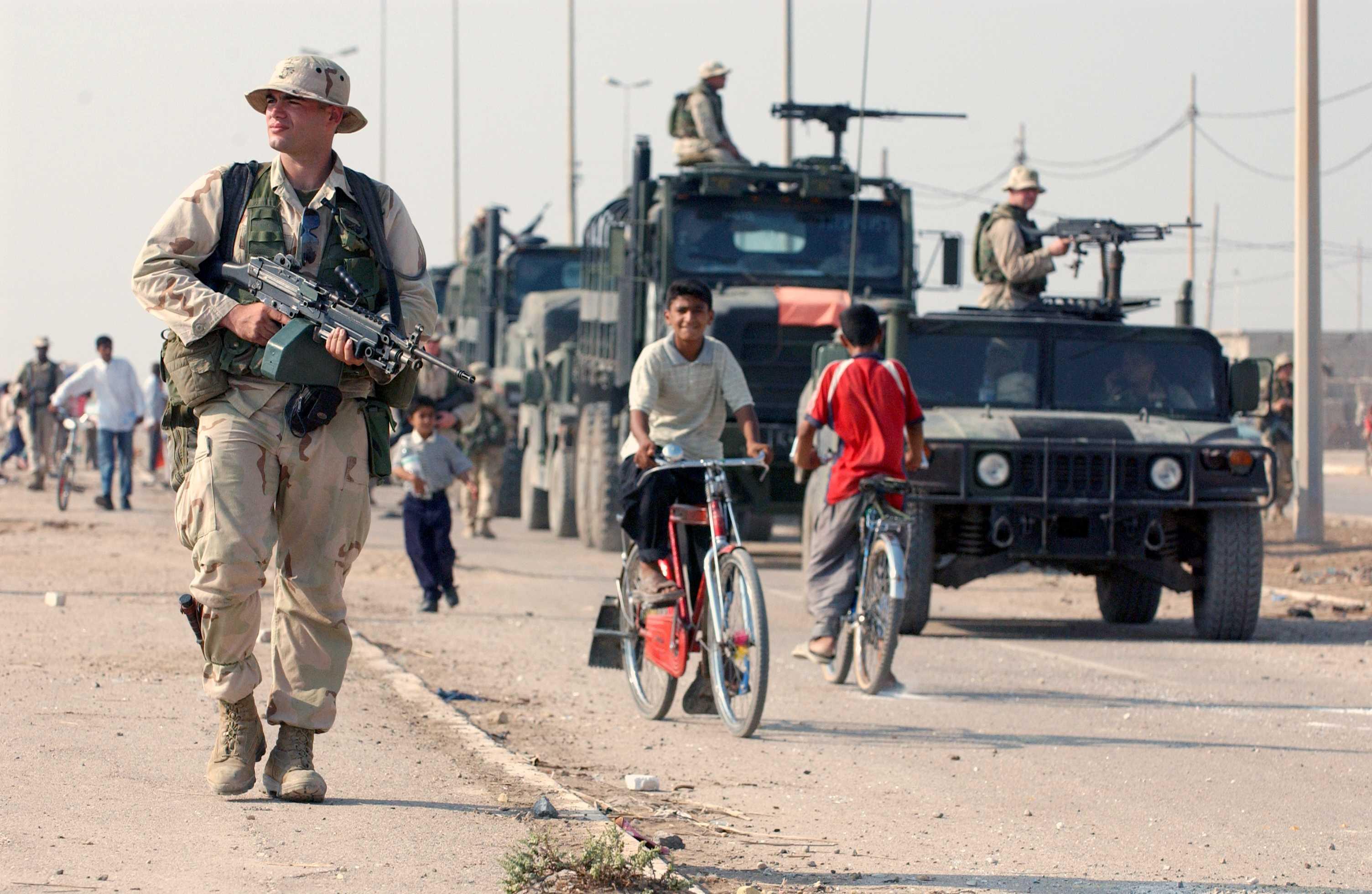 Binh sỹ Mỹ làm nhiệm vụ tại Iraq
