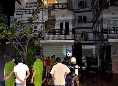 Căn nhà 3 tần nơi xảy ra vụ cháy.