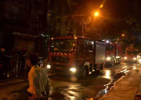 Lực lượng chức năng khống chế đám cháy sau 30 phút có mặt.