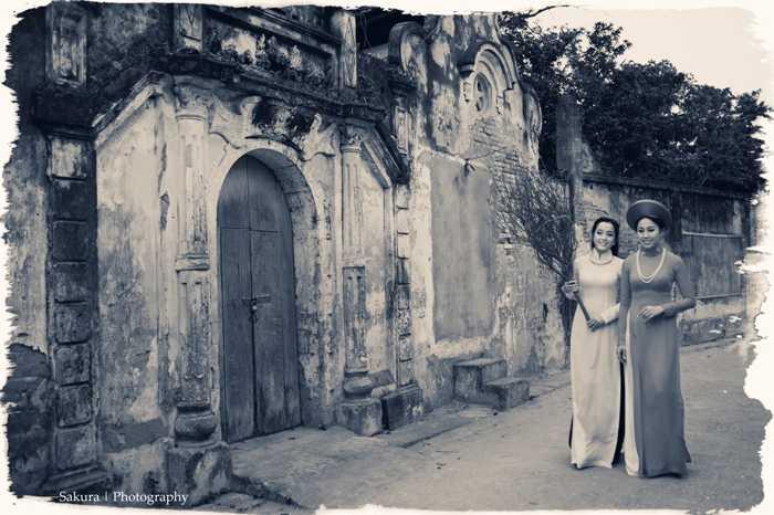 Phương Thanh và Thu Huyền chụp bộ ảnh mới nhằm tái hiện không gian Hà Nội xưa.