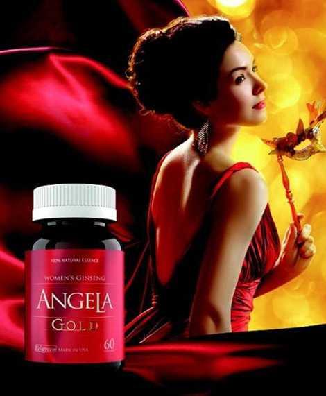 Sản phẩm chăm sóc da mới Sâm Angela gold.