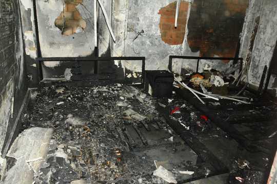 oàn bộ nội thất của phòng 414 bị cháy rụi