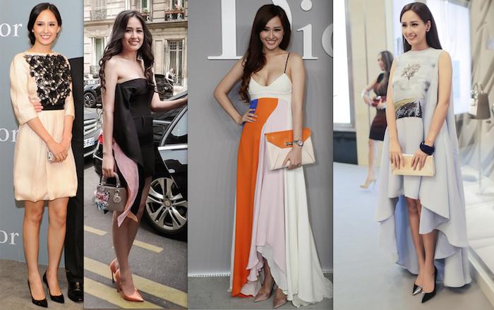 Mai Phương Thúy liên tục xuất hiện tại tuần lễ thời trang cao cấp với những món đồ hiệu đáng giá cả gia tài.