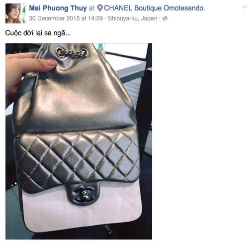 Mai Phương Thuý 'mạnh tay' mua chiếc túi đen trắng Chanel  Cruise 2016...