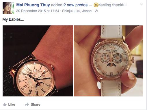 ... và hai chiếc đồng hồ Patek Philippe.