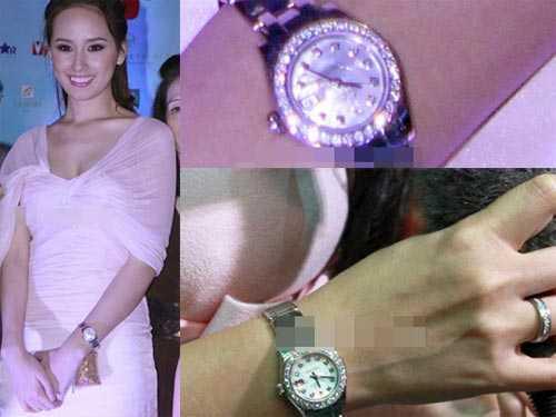 Mai Phương Thuý và chiếc đồng hồ trị giá gần 2 tỷ đồng.
