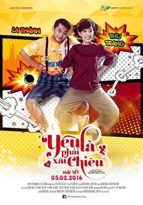 Thu Trang và La Thành trong poster chính thức của 'Yêu là phải xài chiêu'.