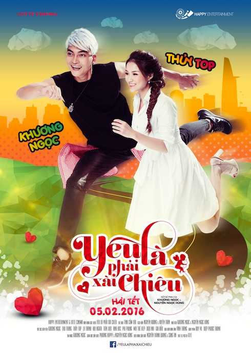 Thuỷ Top và Khương Ngọc trên poster phim.