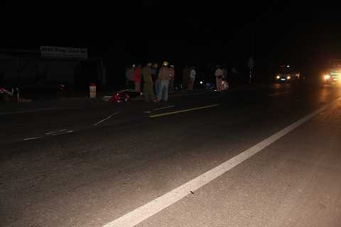 Hiện trường vụ tai nạn tại đường Hồ Chí Minh Ảnh:Thanh Hải