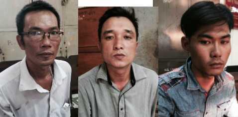 Từ trái sang: Trương Khắc Bảo, Kiều Ngọc Lịch và Phạm Nguyễn Thanh Nhật. Ảnh: Phan Cường