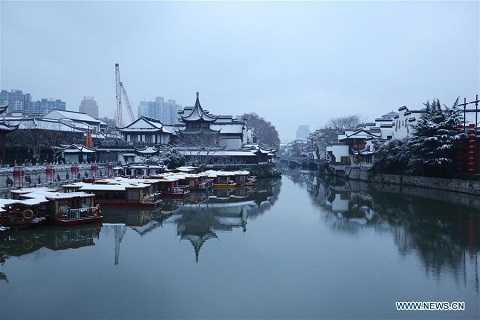 Tuyết phủ trắng ở Nam Kinh, Giang Tô