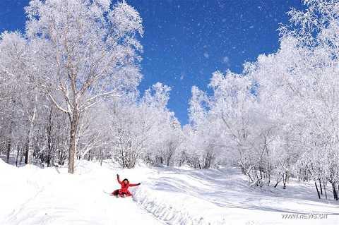 Công viên phủ đầy tuyết ở Cát Lĩnh