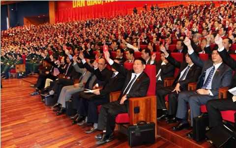 Đại hội Đảng XII đã chính thức thông qua danh sách bầu cử Ban Chấp hành Trung ương khóa XII.