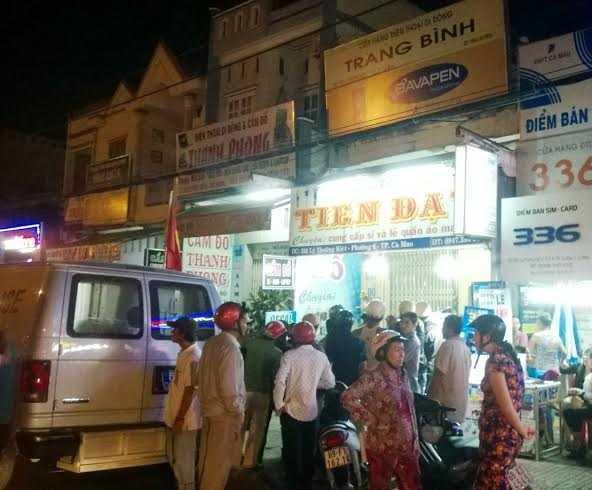 Căn nhà của Bình (hiệu Tiến Đạt) bị khám xét khẩn cấp tối 25/1.
