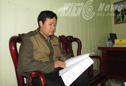 Ông Trần Văn Hòa - Phó Công an thị trấn Minh Tân kể lại sự việc