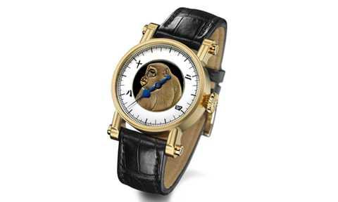 Chiếc đồng hồ có hình ảnh chú khỉ tuyết tạo hiệu ứng 3D có giá 100.000 USD, xấp xỉ khoảng 2,3 tỷ đồng.