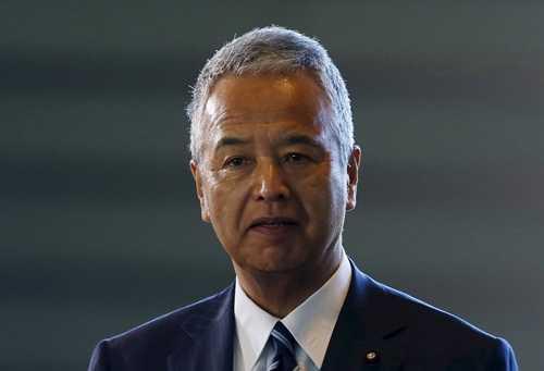 Bộ trưởng Kinh tế Nhật Bản Akira Amari. Ảnh: Reuters.