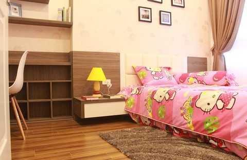 Phòng ngủ được thiết kế dành cho các bé