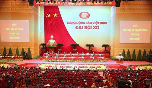 Phiên bế mạc Đại hội Đảng XII. Ảnh: Xuân Tuyến.