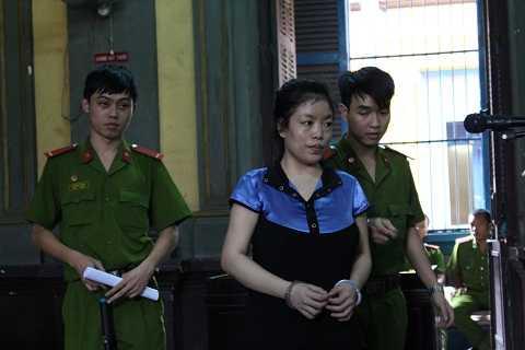 Bị cáo An tại phiên tòa xét xử