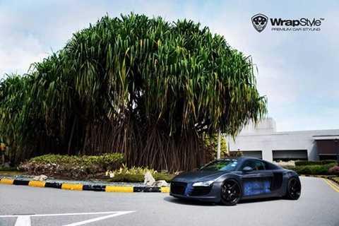 Chưa dừng lại ở đó, WrapStyle còn trình làng bản độ Audi R8 mang phong cách người dơi.