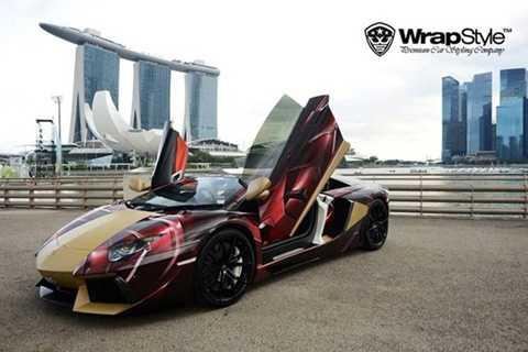 Hay Lamborghini Aventador mang phong cách Iron Man.