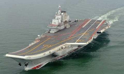 Tàu sân bay Liêu Ninh của Trung Quốc. Ảnh: AP.