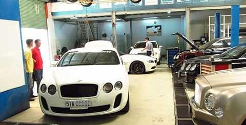 Garage Thần Châu là xưởng chăm sóc xe chuyên về Bentley và một số thương hiệu hạng sang - Ảnh: Thanchauauto