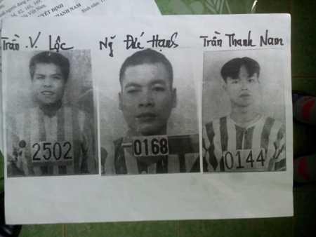 Chân dung 3 phạm nhân đào hầm vượt ngục