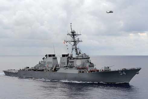Tàu khu trục trang bị tên lửa có điều khiển USS Curtis Wilbur của Mỹ