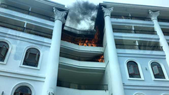 Hiện trường vụ cháy - Nguồn: Facebook