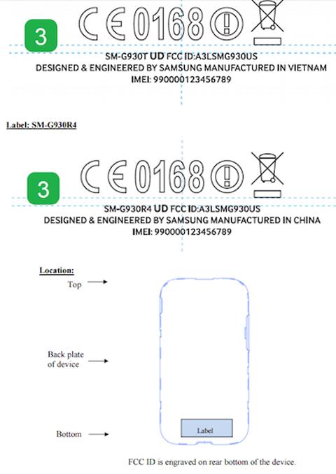 Thông tin FCC về Galaxy S7
