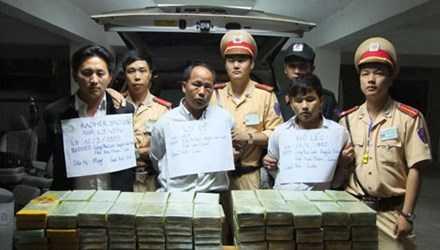 Các đối tượng trong vụ vận chuyển số lượng ma túy khủng - Ảnh Công an nhân dân